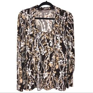 Ribbon and Pearls Print Top by Simonton Says